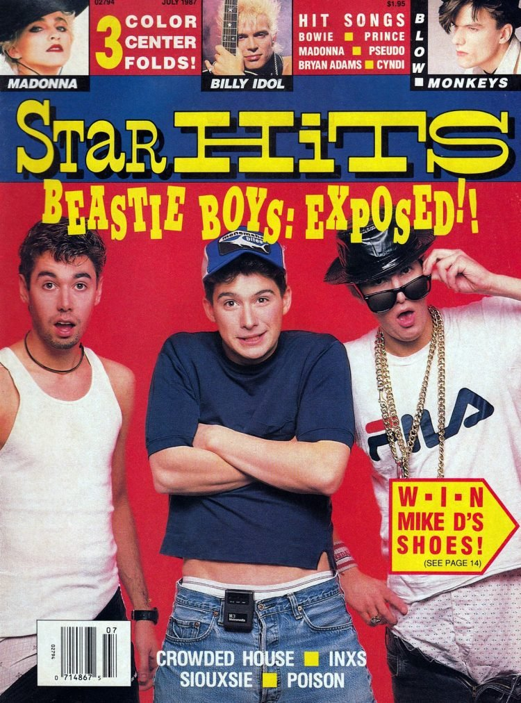 Star Hits magazine cover - 1987 - Beastie Boys