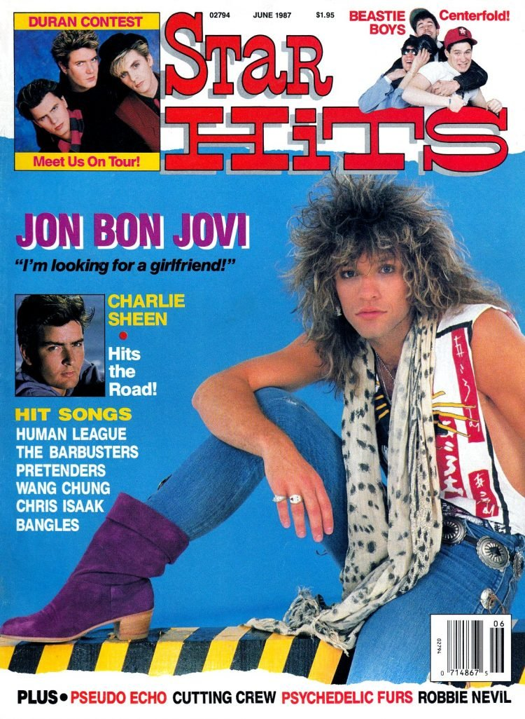 Star Hits magazine cover - 1987 -Bon Jovi