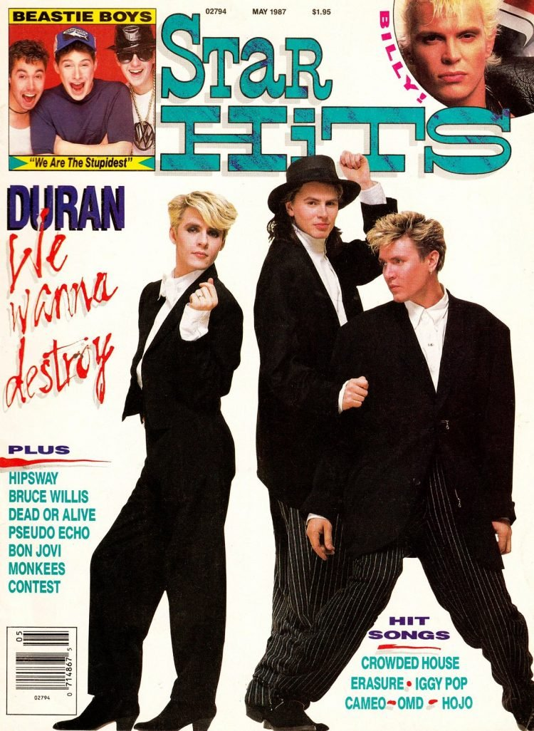 Star Hits magazine cover - 1987 - Duran Duran