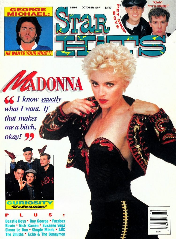 Star Hits magazine cover - 1987 - Madonna