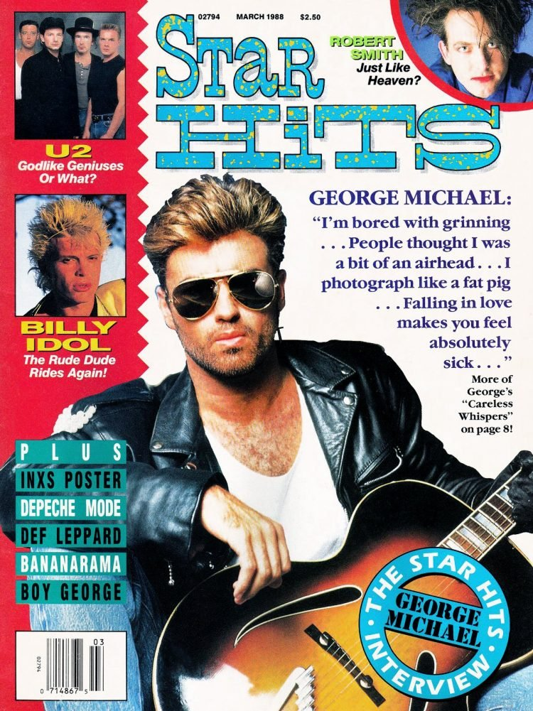 Star Hits magazine cover - 1988 - George Michael