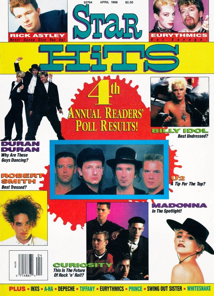 Star Hits magazine cover - 1988 - Reader Poll