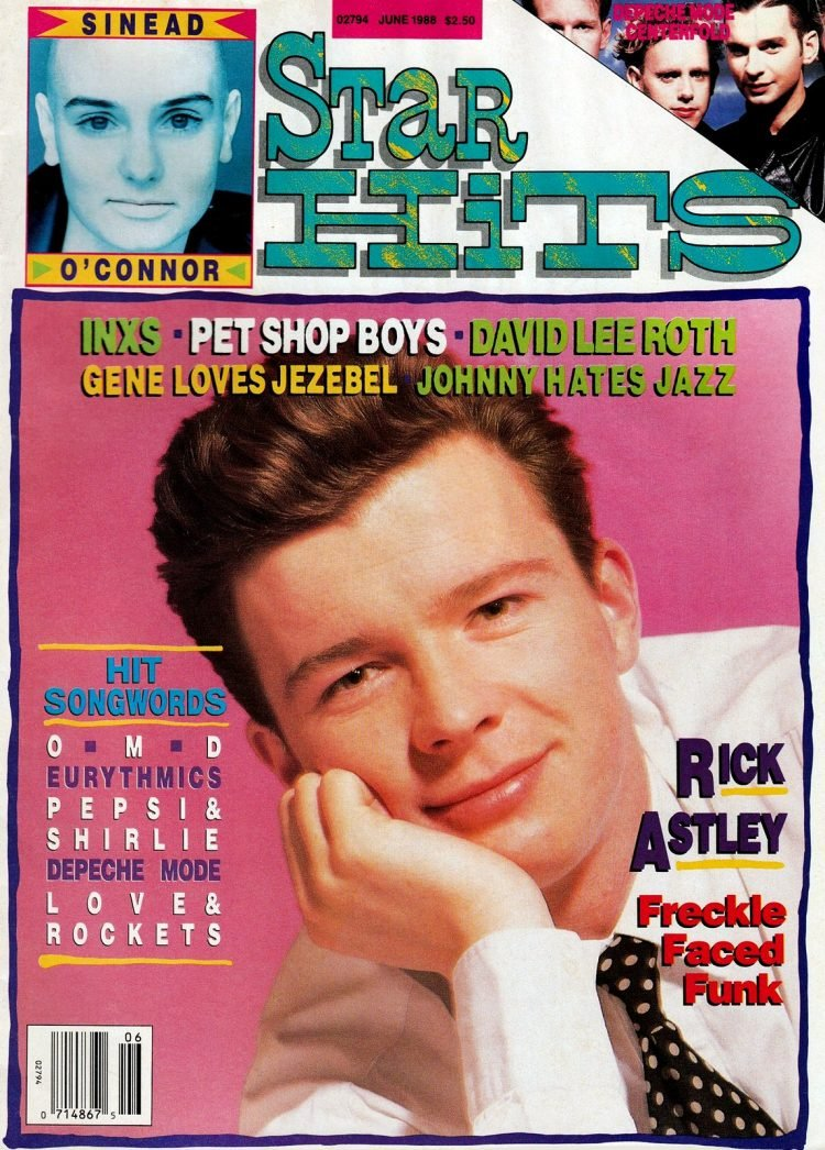 Star Hits magazine cover - 1988 - Rick Astley