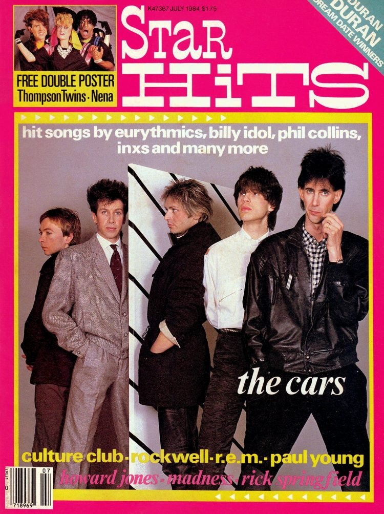 Star Hits magazine cover - July 1984 - The Cars