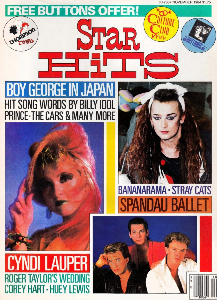 Star Hits magazine cover - November 1984