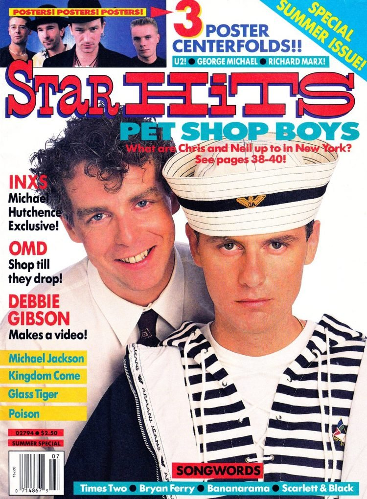 Star Hits magazine cover - Pet Shop Boys