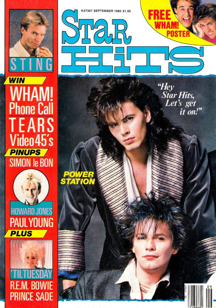 Star Hits magazine cover - September 1985 - Duran Duran
