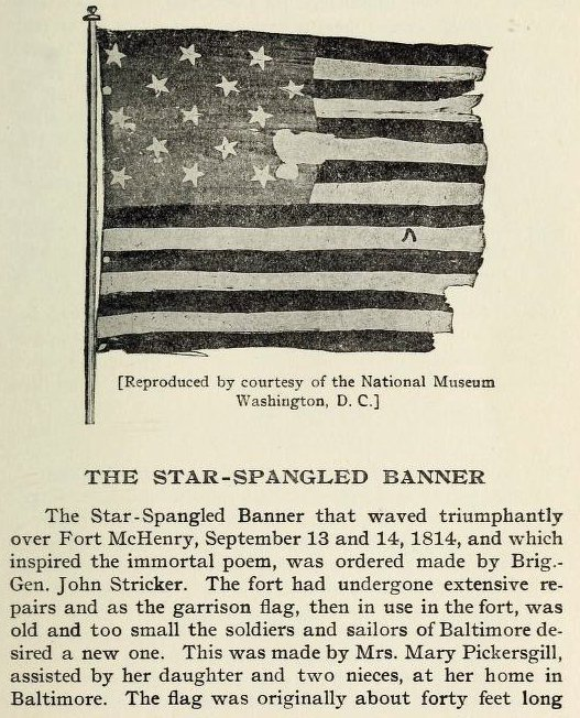 Star Spangled Banner - American flag history