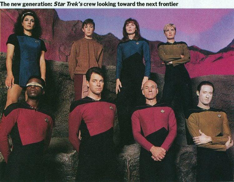 Star Trek TNG crew of The Enterprise - NCC-1701D