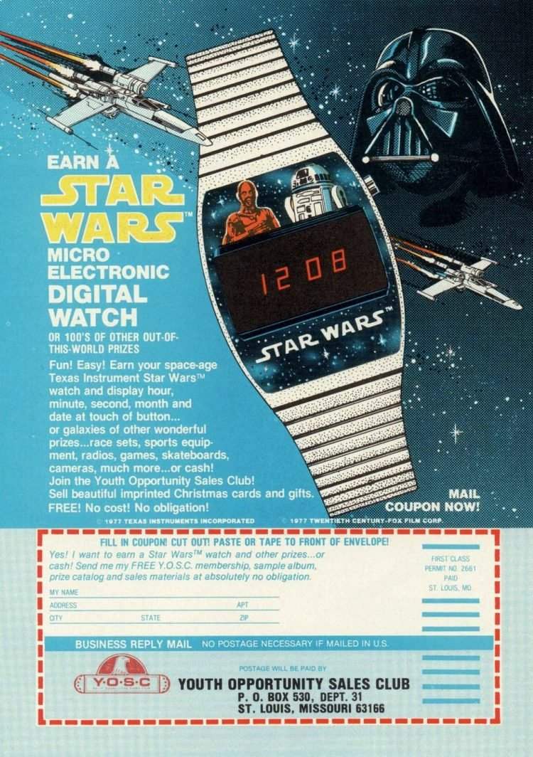 Star Wars Digital Watch July 1978