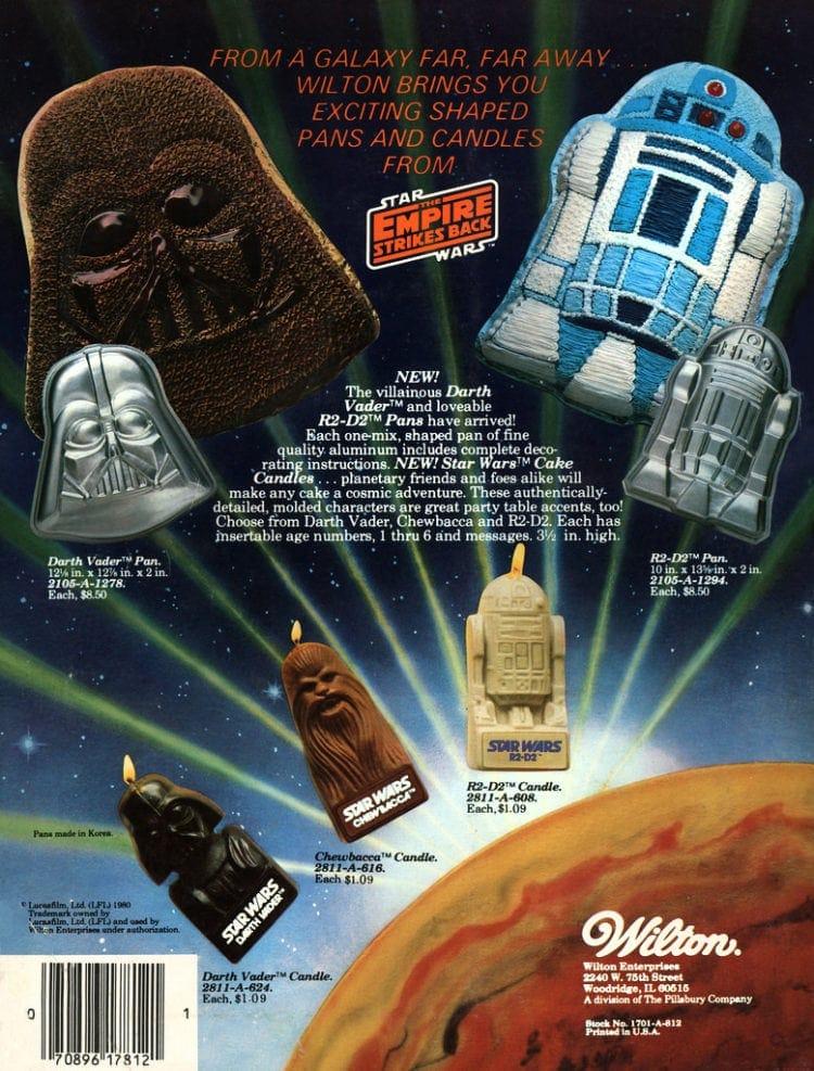 Star Wars Wilton cake decorations 1981