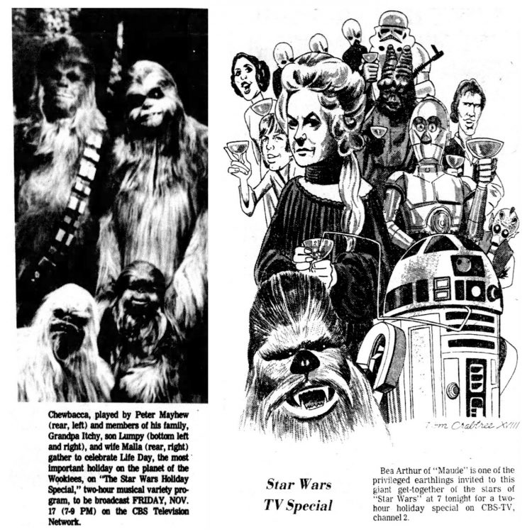 Star Wars holiday special on TV 1978 (1)