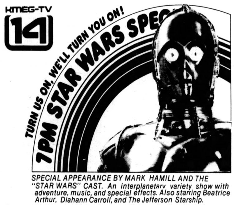 Star Wars holiday special on TV 1978 (2)