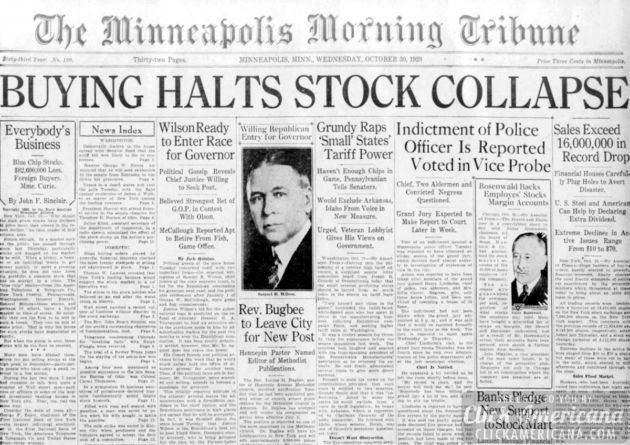 Great Depression Timeline