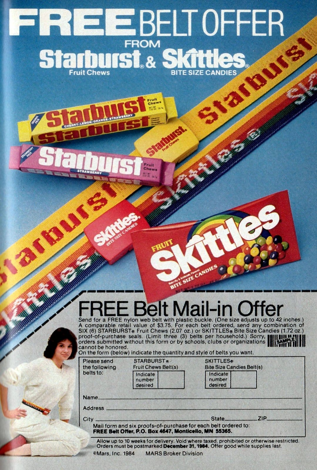 Starburst and Skittles belts