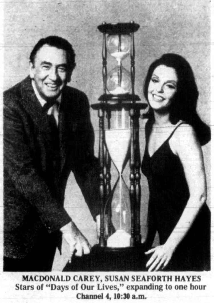 Stars of Days of our Lives TV show 1975