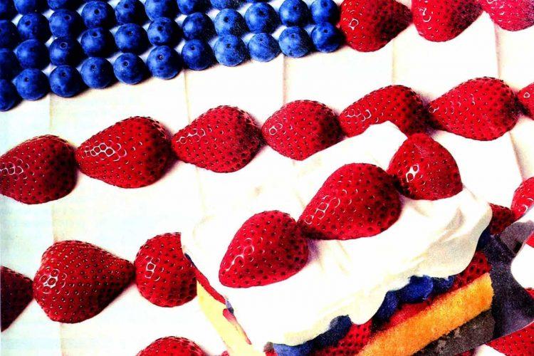 Stars & stripes dessert Pound cake, berries & whipped topping (1994)