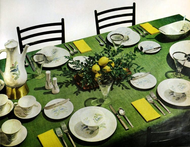Start your table with a vibrant green