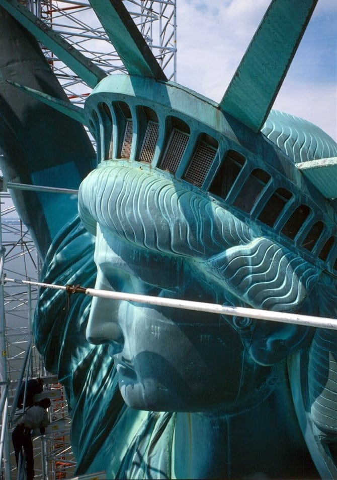 Statue of Liberty - Side view of head - 1985