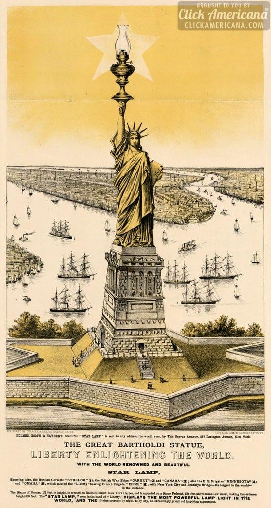 Statue of Liberty, aka The great Bartholdi statue 1884