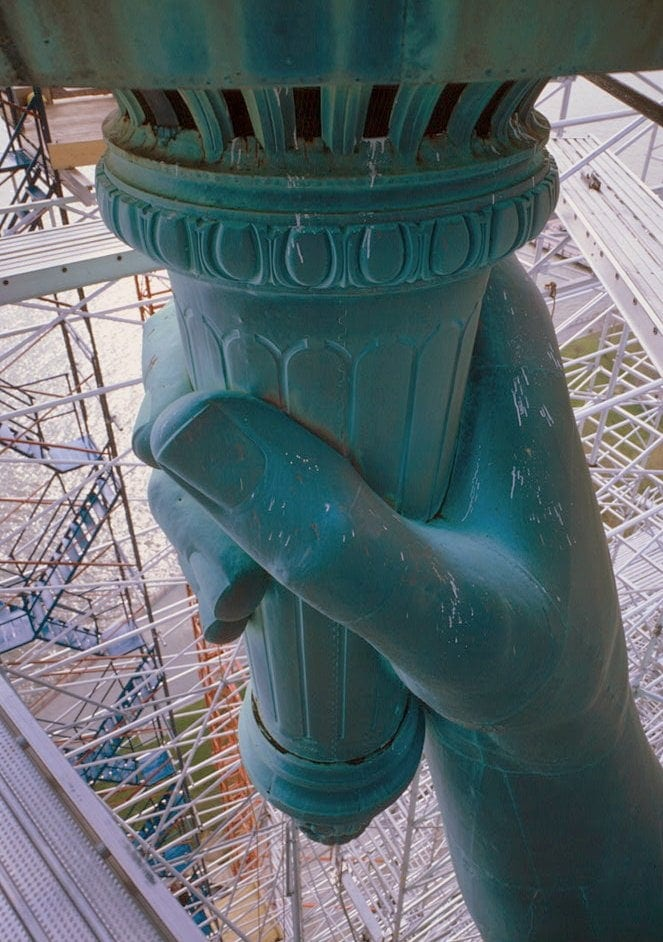 Statue of Liberty holding her torch