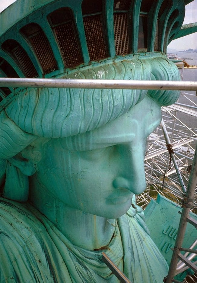 Statue of Liberty - seen from torch arm