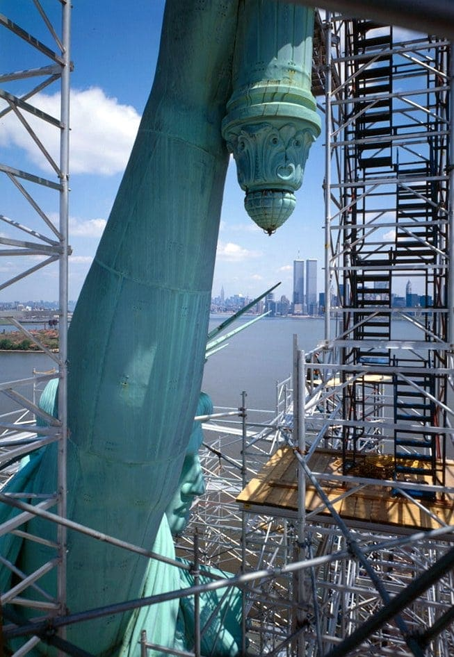 Statue of Liberty's arm