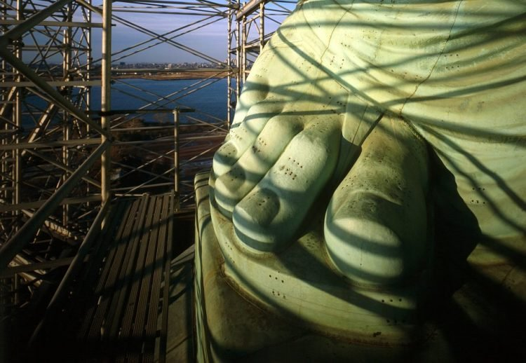 Statue of Liberty's feet and toes