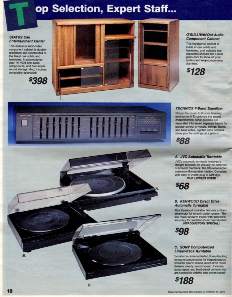 Status and O'Sullivan oak entertainment centers audio component cabinets