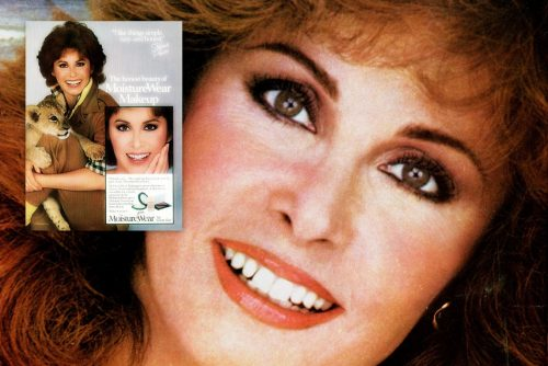 Stefanie Powers for Cover Girl and MoistureWear makeup in the 1980s