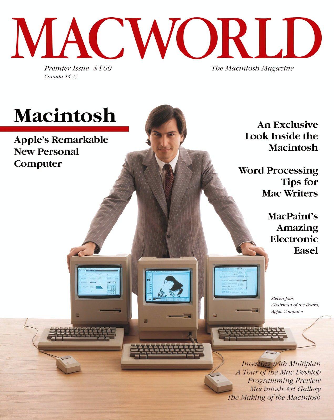 Steve Jobs - MacWorld magazine cover (1984)