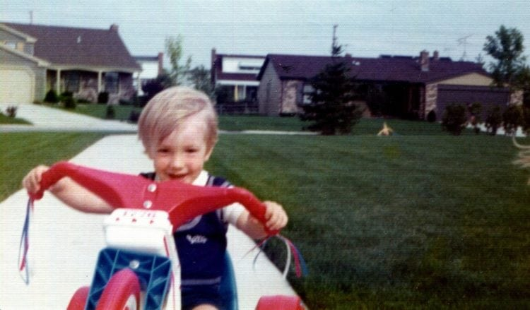 Steven with his new Big Wheel c 1975