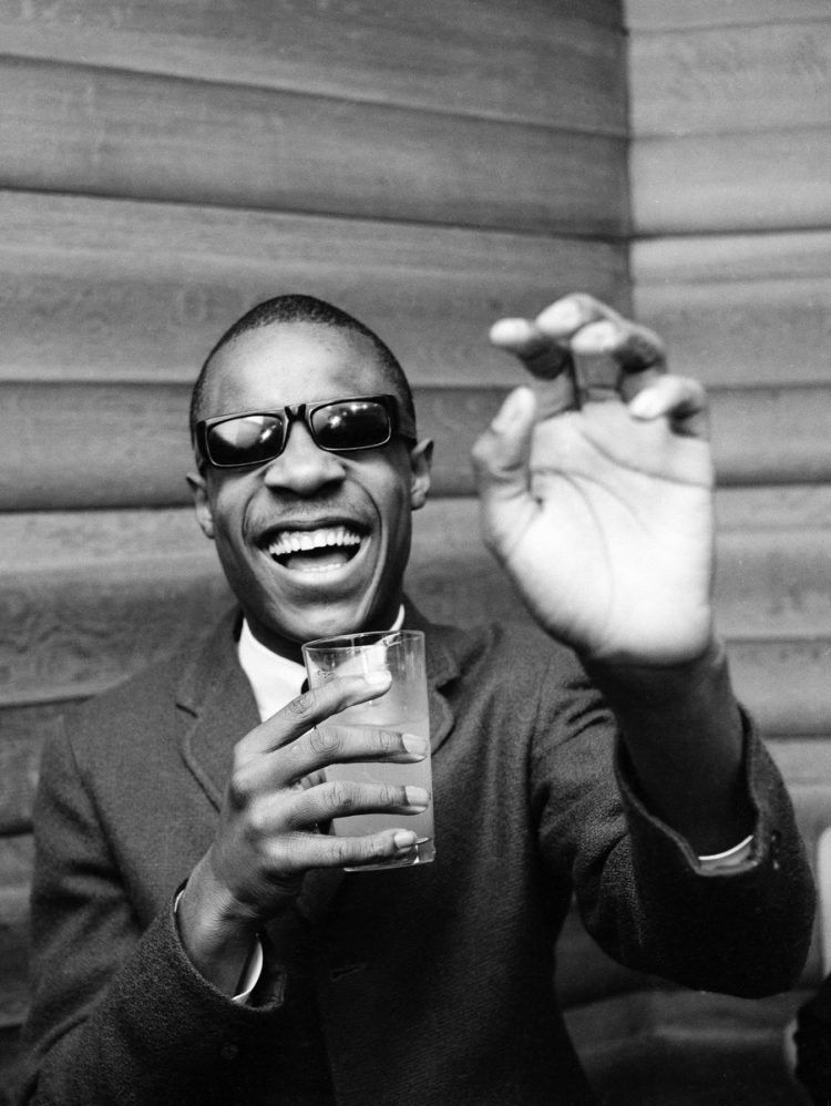 Stevie Wonder happy