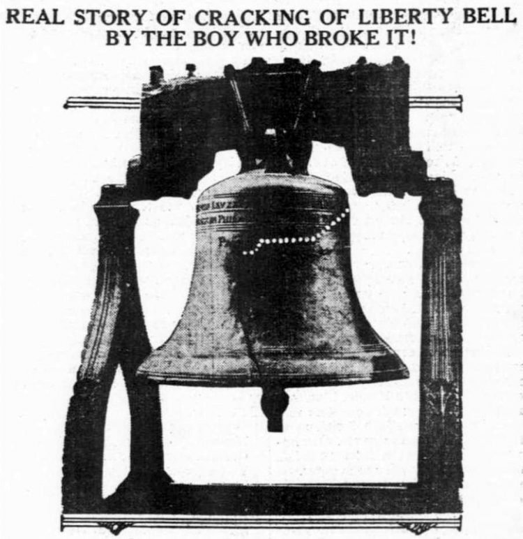 Story of the cracking of the Liberty Bell-1915