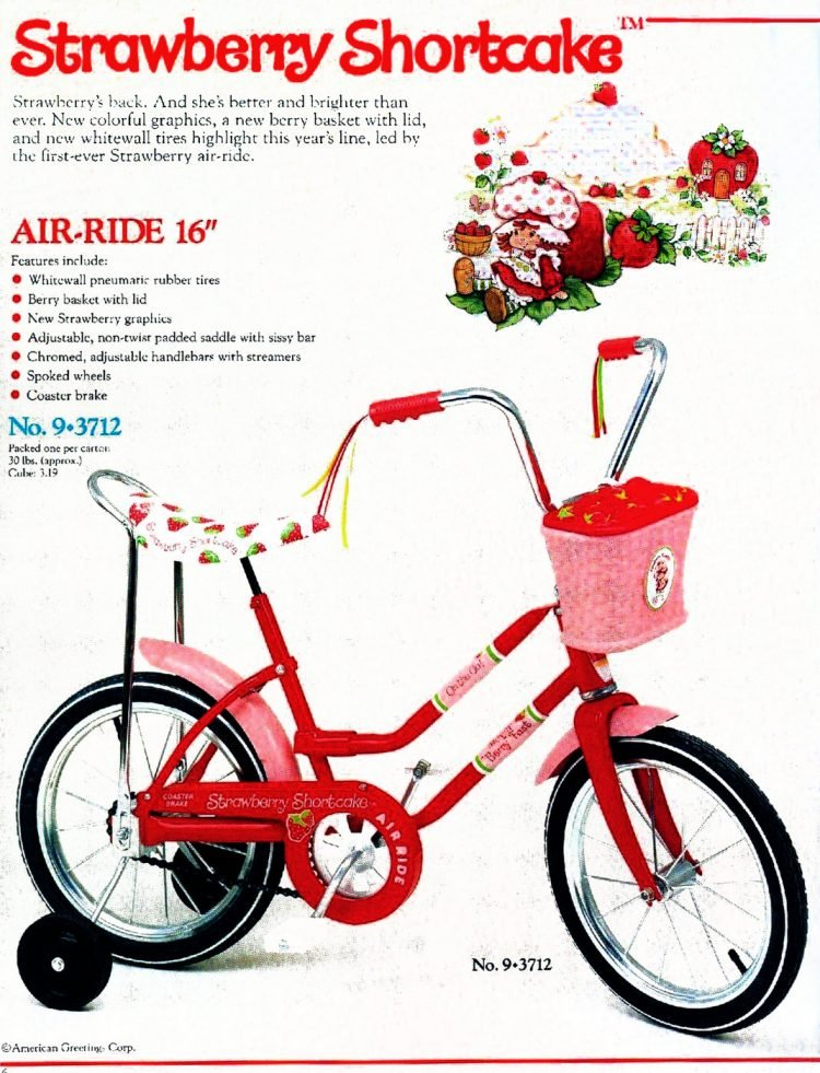 Strawberry Shortcake bike from the '80s