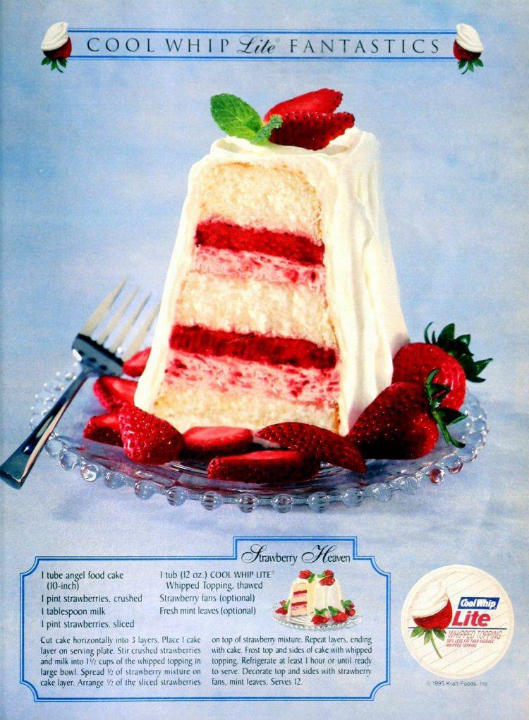 Strawberry heaven angel food cake dessert