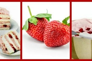 Strawberry ice box frosted cake recipe