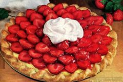 Strawberry satin pie recipe (1964)