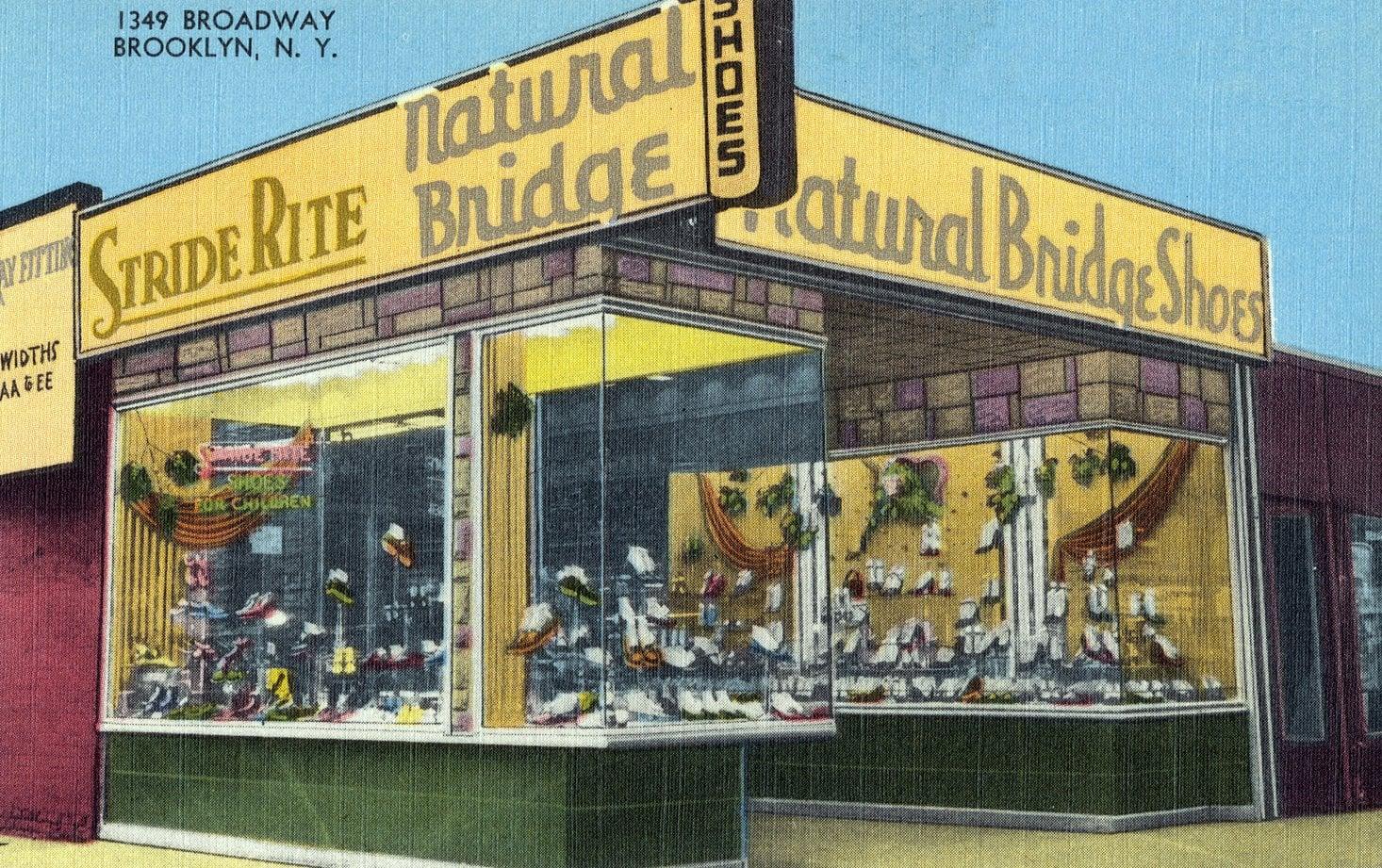 Stride Rite, Natural Bridge Shoes Brooklyn NY (1940s)