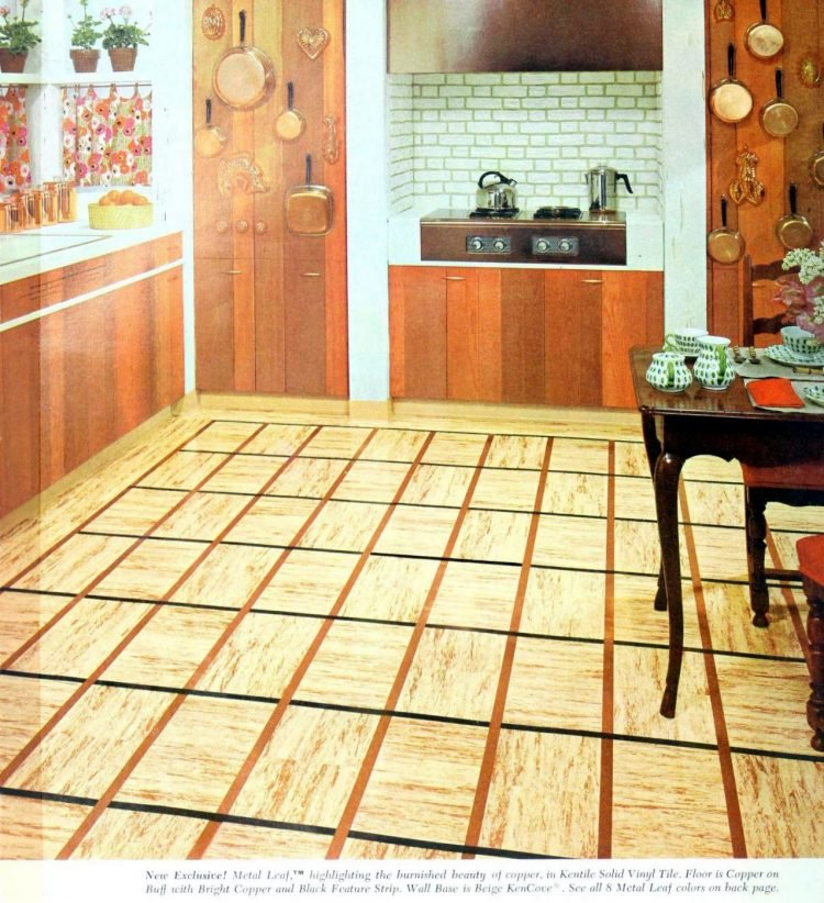 Striped vinyl tile from 1958