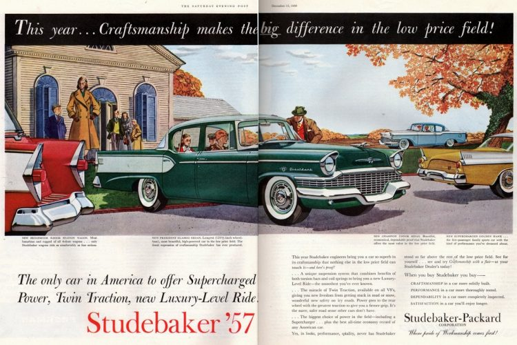 Studebaker '57: Supercharged new Luxury-Level Ride