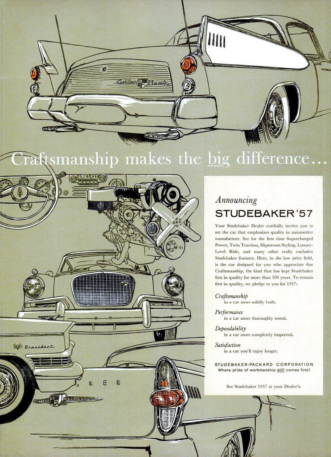 Studebaker '57 craftsmanship - 1956 cars