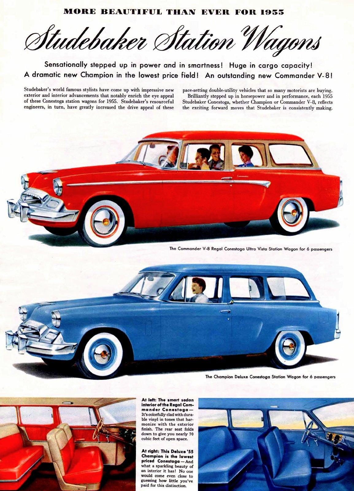 Studebaker station wagons 1955