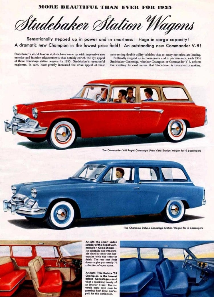 Studebaker station wagons 1955