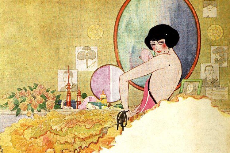 Stylish 1920s flapper fashion