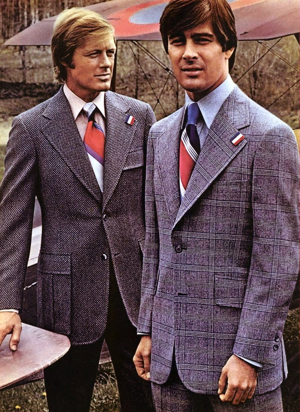 Stylish 1970s suits for men from 1972