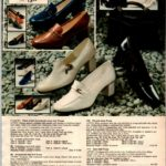 Stylish 70s pumps for women with ornamental vamps and metal trim and square heels