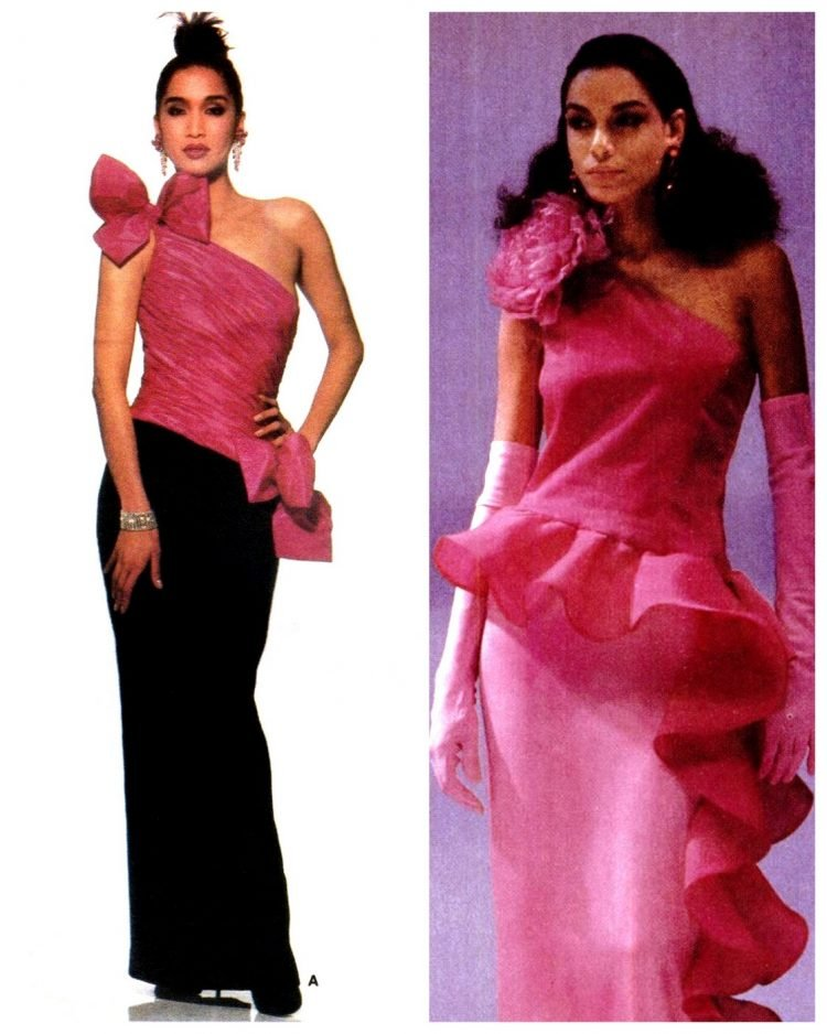 Stylish vintage '80s prom dresses