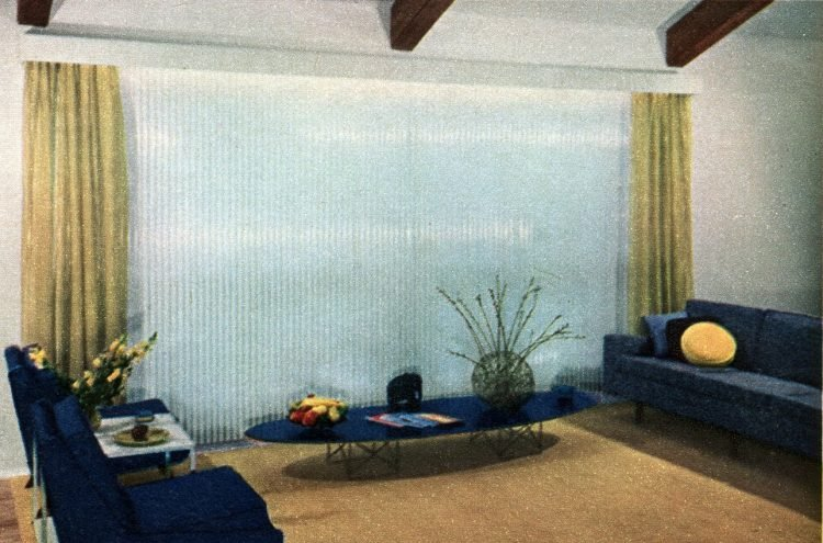 Stylish vintage window coverings from the fifties (1)