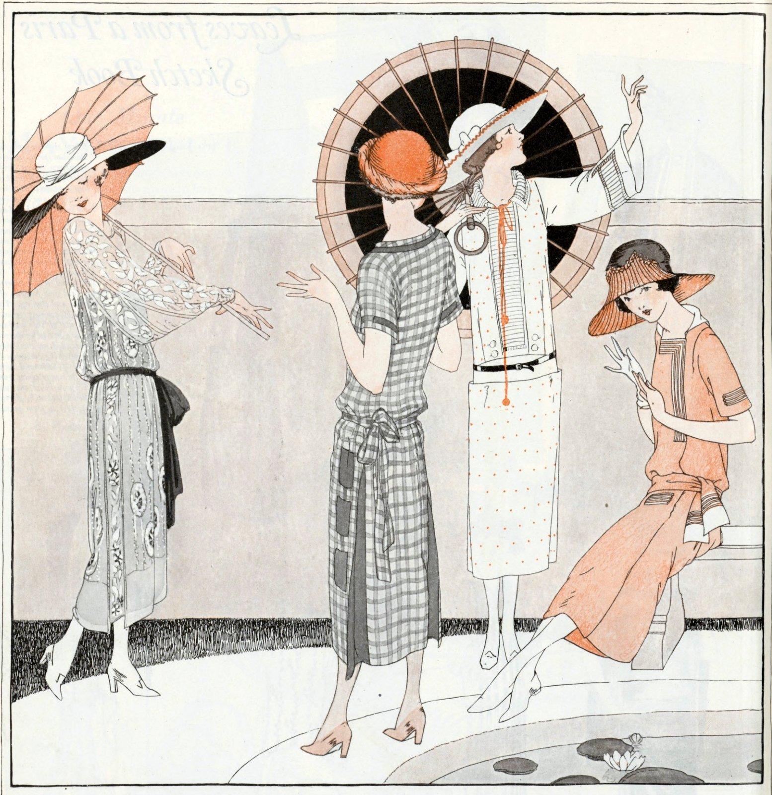 Stylish women in 1922